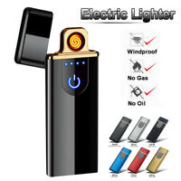 USB Electric Dual Flameless Lighter Rechargeable Windproof Cigarette Lighters