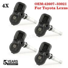 Set of 4 For Toyota Lexus TIRE PRESSURE SENSOR TPMS PMV-107J 42607-33021