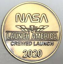 """N621   SPACEX - NASA  BRONZE  MEDAL,   """" LAUNCH AMERICA """"  FIRST  CREWED  LAUNCH"""