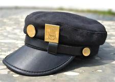 Anime Jojo's Bizarre Adventure Jotaro Kujou Cosplay Flat Cap Military Hat +badge