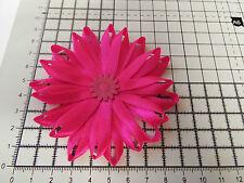 UK-Large,Hot Pink - Satin Ribbon Flowers- Appliques,Trimmings ,Wedding 90mm x 1