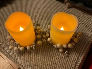 Led candles x 2 with decor around bottom