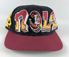 Florida St. Seminoles Vintage Snapback Baseball Hat Top of World Graffiti Black