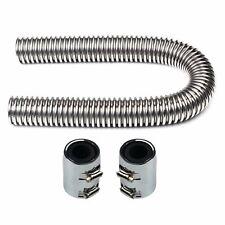 """24"""" Stainless Steel Flexible Upper Lower Radiator Hose Kit w/ Chrome caps V8"""