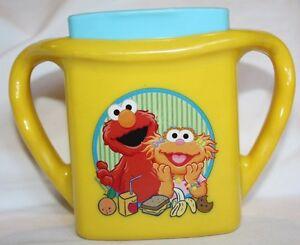 First Years 2006 Elmo Zoe Sesame Street Muppets Juice Box Holder EUC