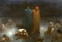 GUSTAVE DORE Dante And Virgil (1861) (62x43 cm), FINE ART CANVAS PRINT, FREE P&P