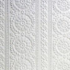 Mav Anaglypta Original Wallpaper Townsend RD340 White - 10 Metre