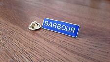 ORIGINAL BLUE ENAMEL BARBOUR PIN BADGE