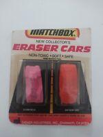 Vintage Diener Industries Matchbox New Collector Eraser Cars New in Box Series 2