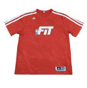 Adidas NBA Detroit Pistons Charlie Villenueva Team Issued FIT Shirt Red 4XL +2