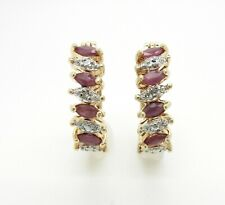 Gold Over 925 Sterling Silver Cubic Zirconia Drop Earring UK New 2.82g