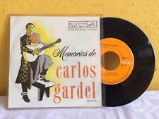 """CARLOS GARDEL MEMORIAS DE CARLOS GARDEL MEXICAN 7"""" EP PS TANGO"""