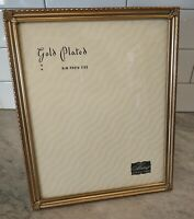 "Vintage Tabletop Picture Frame w/ Glass 8x10"" by Metalcraft Gold Plated Ornate"