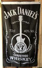 JACK DANIELS  3' X 5'  OLD No7 GUITAR FLAG BANNER  NEW