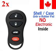 2x New Replacement Keyless Remote Case Chrysler Dodge Jeep GQ43VT17T - Shell