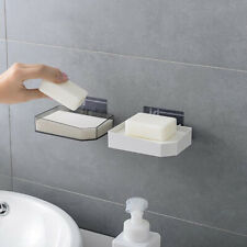 Soap Dish Holder Wall Mounted Soap Tray Soap Box Bathroom Kitchen BT