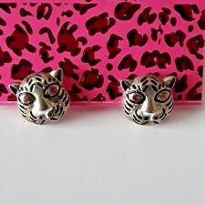 LION ANIMAL PIERCED STUD GOLD CRYSTAL ALLOY EARRINGS BETSEY JOHNSON
