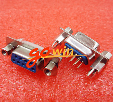 5PCS D-SUB DB9 female 180° Solder Type Serial Port PCB Connector