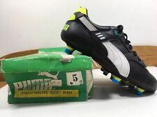 Vintage 1980s Puma Rascado Football Boots Uk 5 Eu 38 US 6 Cleats Black OG BNIB