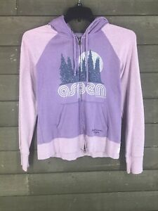 American Eagle 520 Purple Aspen Full Zip Hoodie Junior's M