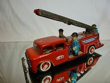 TIN TOY BLECH  VINTAGE CHINA MF518 FIRE ENGINE TRUCK - L27.0cm - BAD CONDITION