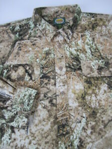 Mens 3XLT Cabelas ZONZ Western camo heavy button long sleeve shirt MINT