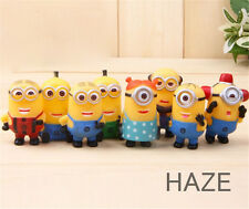 Despicable Me 2 movie mini Action Figures 8pcs Minions men women Toy PVC doll
