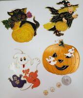 Vintage Halloween Window Sun Catchers (4 Piece Set)