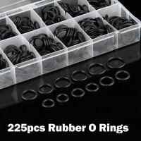 NEW 225 Pcs Rubber O Ring Oring Seal Plumbing Garage Sealing Assort Set Kit