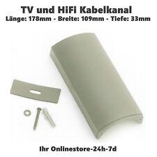 Kabelkanal LCD TV Kabelführung HiFi Kabelschiene Kabel Kanal Design NEU SILBER