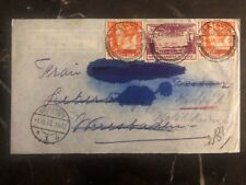 1935 Batavia Netherlands Indies Airmail Cover To Wiesbaden Germany