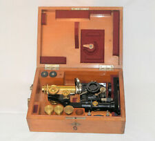 An excellent folding, portable microscope in case by Ernst Leitz.