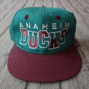 Vintage 90s Anaheim Mighty Ducks Snapback Hat Cap