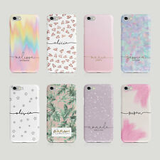 Personalised Name iPhone Samsung Hard Phone Case Aesthetic Holographic Hearts