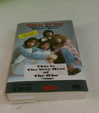 The Who Very Better Best cassette My Generation Happy Jack Pinball Wizard Of htf