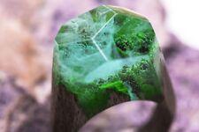 Wood resin ring WATERFALL Secret Handmade jewelry wooden resin rings for women