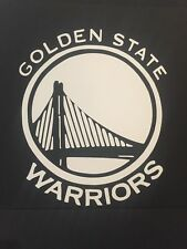 GOLDEN STATE WARRIORS NBA WHITE VINYL STICKER / DECAL