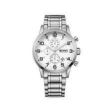 Hugo Boss Men's Aeroliner Silver/White Chronograph Watch HB1513182