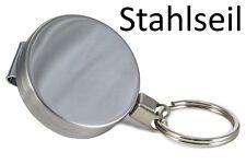 STAHLSEIL + Schlüsselring - SCHLÜSSELROLLER KEYBAK ROLLMATIK SCHLÜSSELKETTE KEY