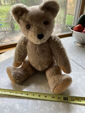 """Antique Mutzli jointed small bear 18"""" Glass eyes"""