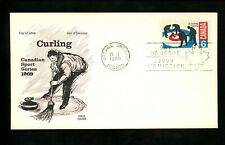 Postal History Canada Fdc #490 Cole Cover sports curling 1969