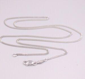 Fine Pure Platinum 950 Pt950 Necklace Women Curb Link Necklace 5-5.4g 20inch