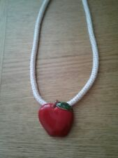 Vintage Flying Colors Apple Necklace