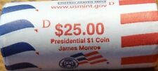 "2008 D James Monroe Presidential ""Unopened"" Mint Dollar 25 Coin ROLL"