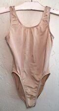GK ELITE gymnastics LEOTARD Nude LINER Undergarment TANK Beige COMPETITION  AS