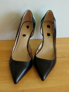 -Stylish Black with Mint Heels Shoes from Zara - Size 39
