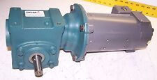 BALDOR 90 VDC 1/4 HP 1750 RPM 56C 60:1 RATIO GEAR MOTOR DODGE TIGEAR 2  .43 HP