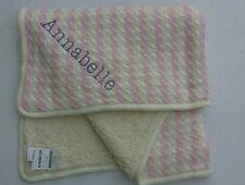 "Pottery Barn Emerson Stroller Blanket Pink Monogrammed ""Annabelle"" NWT"