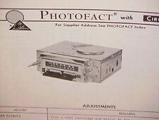 1975 AUDIOVOX 8-TRACK TAPE PLAYER/AM-FM/MPX RADIO SERVICE MANUAL C-986(136-1013)