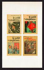 """Tintin - vel met 4 stickers/autocollant covers """"Le petit Vingtième"""""""